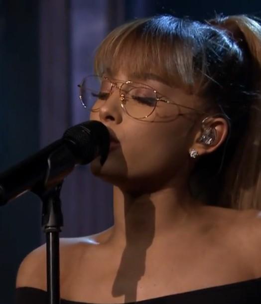 Sunglasses Glasses Gold Dope Lit Ariana Grande