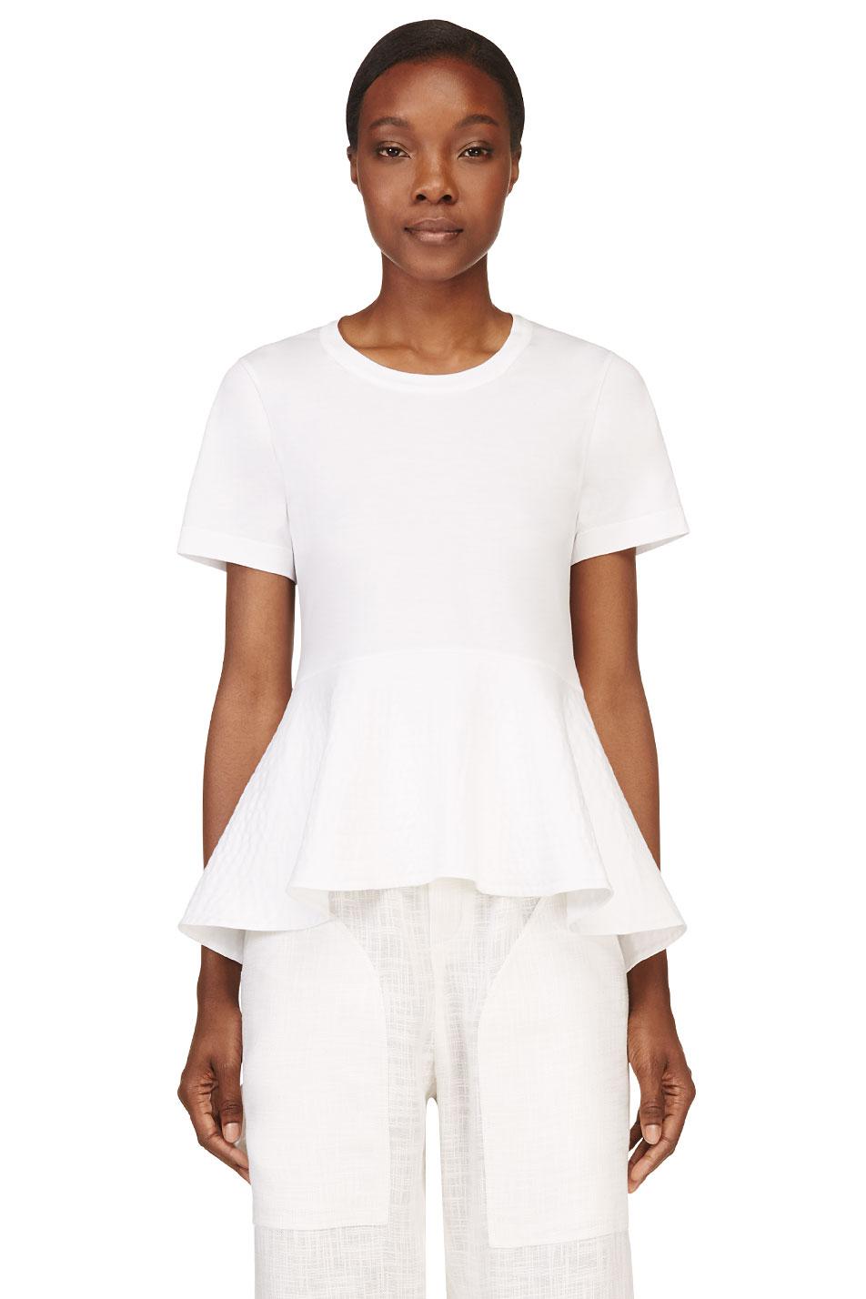 chlo white peplum t_shirt