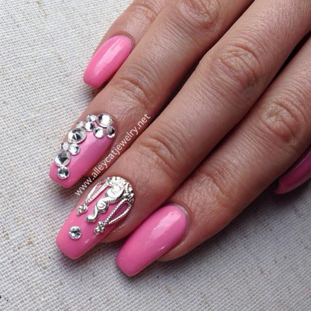 nail accessories, crown, nail jewel, nail charms, silver, nail charm ...