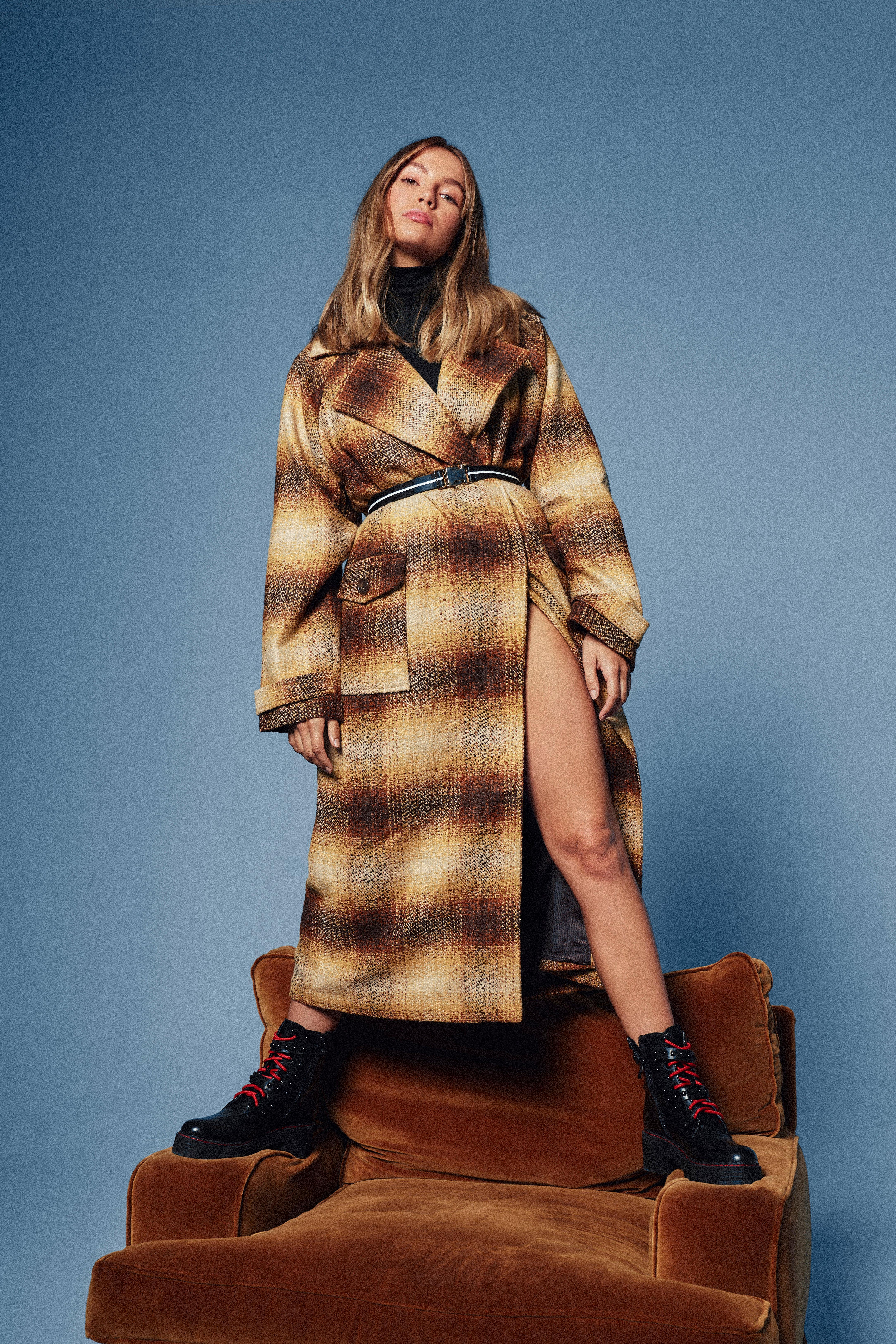 Life After Love Check Oversized Coat | Shop Clothes at Nasty Gal!