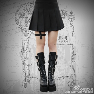 shoes goth gothic lolita black boots goth shoes
