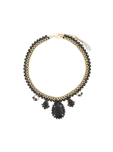 RADÀ women embellished necklace grey metallic jewels