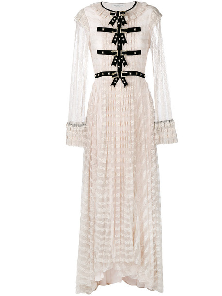 Philosophy di Lorenzo Serafini dress lace dress women embellished lace purple pink