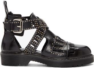 cut-out boots ankle boots cut-out ankle boots black shoes