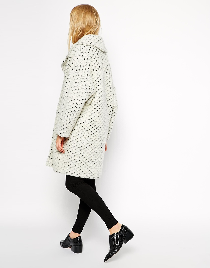 Asos coat with cocoon fit in texture at asos.com