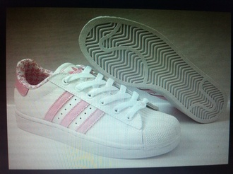 shoes pink hot adidas superstar white