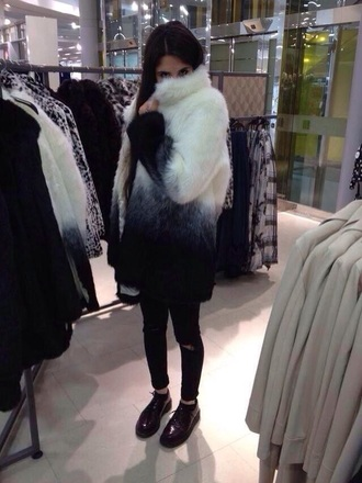 black fur coat fur jacket fur vest fourrure coat jacket