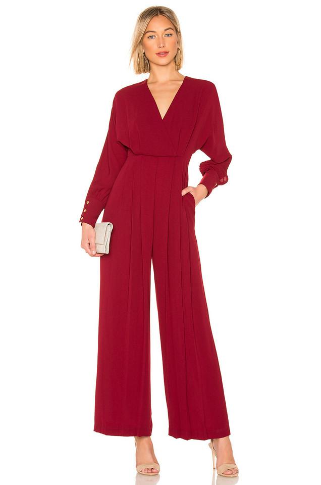 Donna Mizani Dean Jumpsuit in red