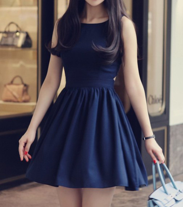 dress blue dress cute dress blue fashion style cute trendy girly hot rosegal-jan