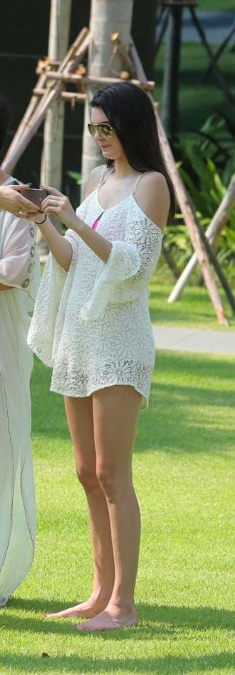 kendall jenner lace dress white dress