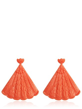 earrings coral jewels