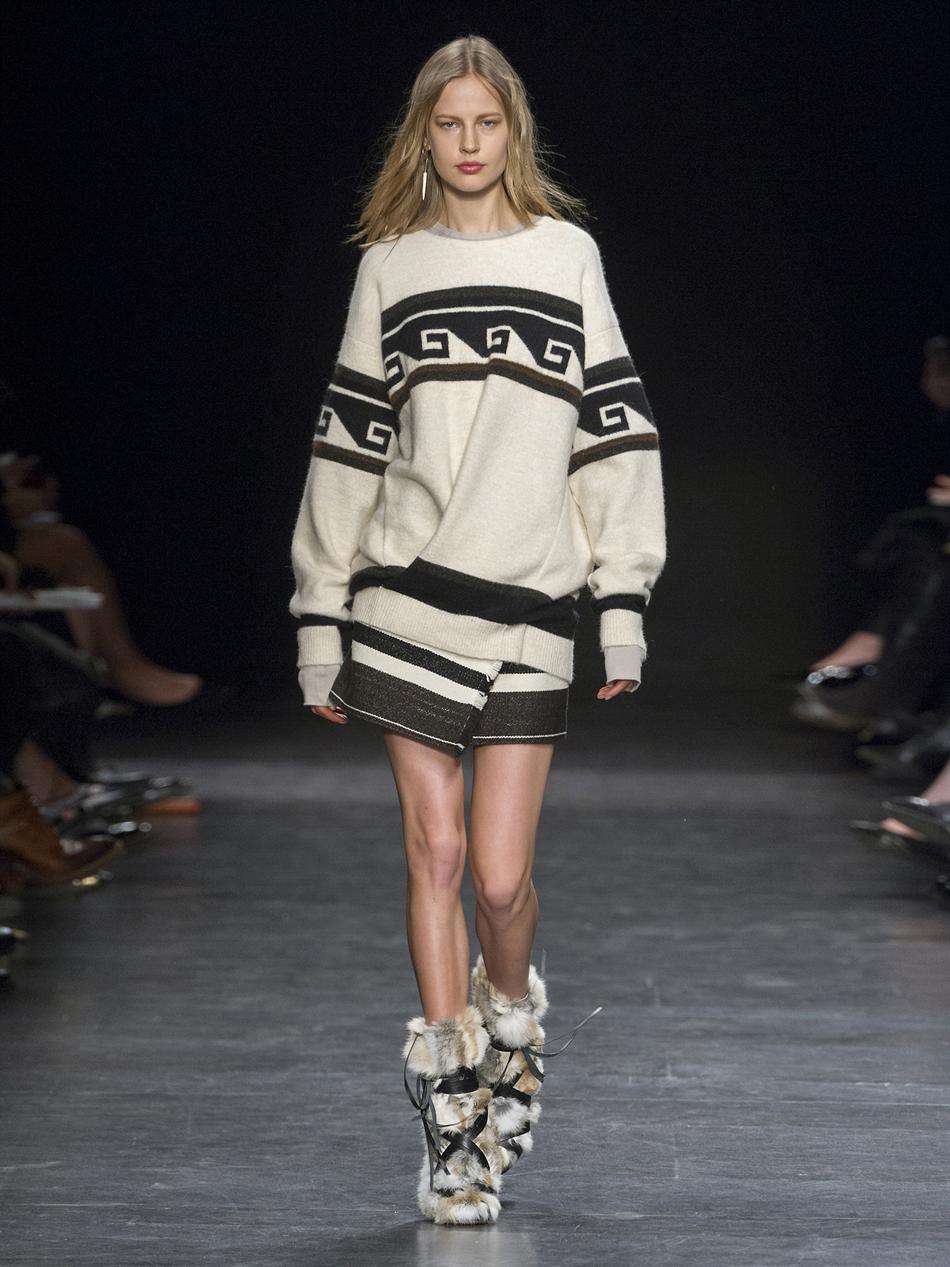 Samuel geometric stripe-knit sweater | Isabel Marant | MATCHES...