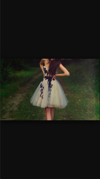 dress ivory dress black pattern beautiful prom dress