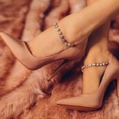 shoes,nude,pumps,fashion,beige,trendy,heels,high heels,classy,elegant,fsjshoes