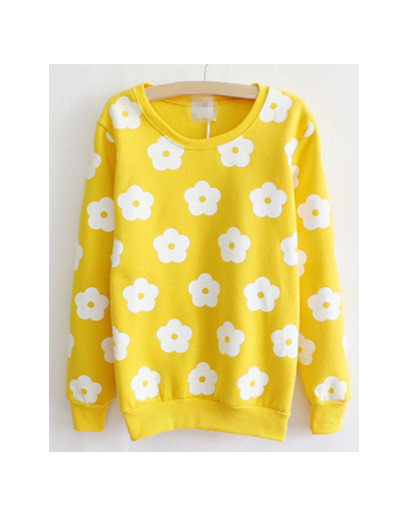 Patch flowers floral fall winter sweater shirt