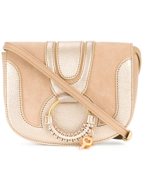 See by Chloe mini women bag leather nude cotton suede