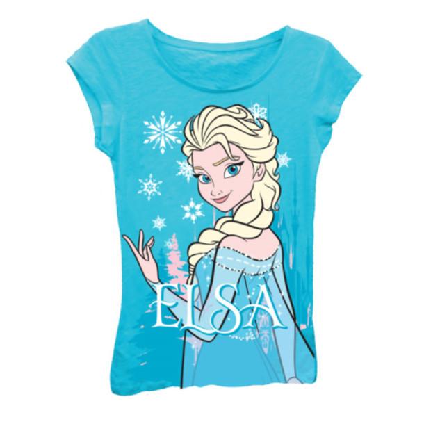 tshirtmall, blue shirt, frozen, elsa, elsa tshirt, elsa ...