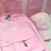 bag,cry baby,pink,backpack,pink bag