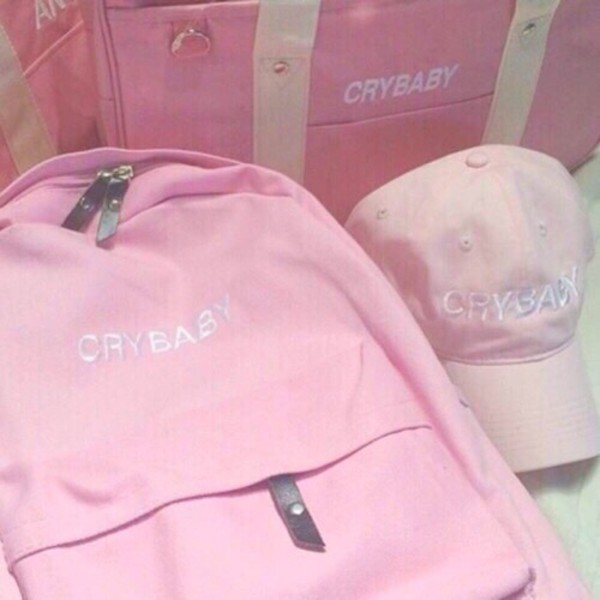 Bag Cry Baby Pink Backpack Pink Bag Wheretoget