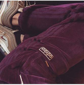 leggings wine burgundy adidas sweatpants