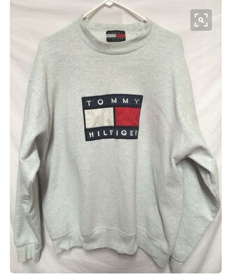 top pullover grey sweatshirt tommy hilfiger shirt college tommy hilfiger shirt warm
