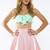 Sugar Town Skater Skirt - Pink