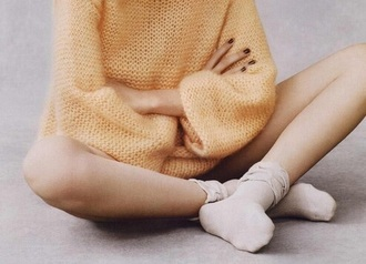 shirt sweater orange winter outfits hipster socks oversized sweater comfy