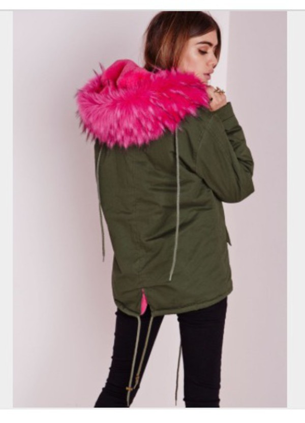 Купить Куртку Зеленая С Мехом