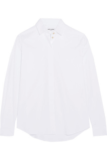 Saint Laurent shirt white cotton top