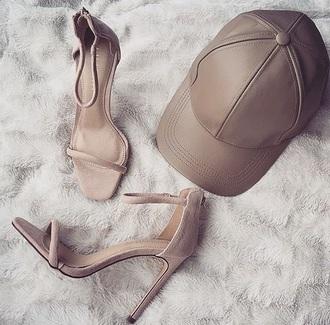 hat nude baseball cap vue boutique shoes