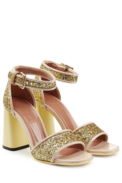 c0fce76457a Marni Glitter High Heel Sandals in gold - Wheretoget