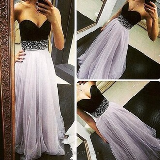 dress gown elegant fashion formal prom homecoming dress strapless dressofgirl