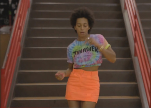 blouse clothes jeans top skirt solange knowles thrasher thrasher tie dye tie dye mini skirt crop tops
