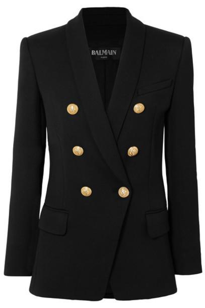 Balmain blazer black wool jacket