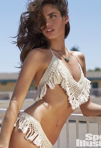 swimwear bikini white boho hippie lace dress