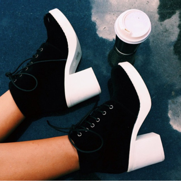 shoes fashion black white grunge black and white