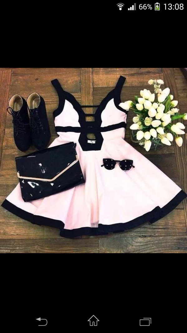 dress pink dress sunglasses flowers