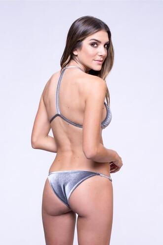swimwear bikini bottoms cheeky dbrie swim silver velvet bikiniluxe