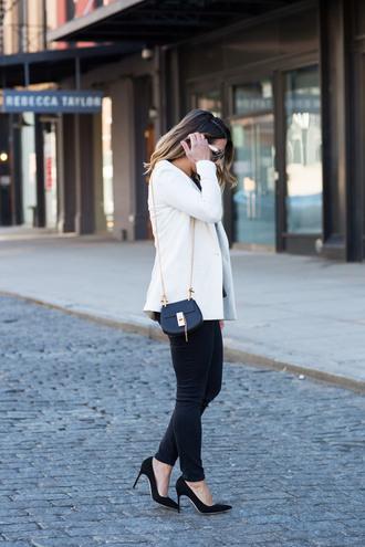 the corporate catwalk blogger top jacket pants bag sunglasses shoes
