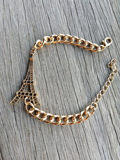 jewels,bracelets,charm bracelet,paris,accessories,jewelry,chain bracelet,gold chain,freeforme