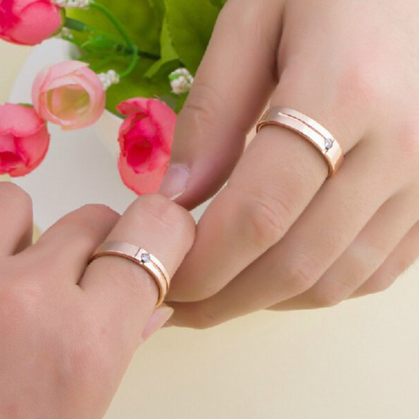 jewels lover rings evolees cubic zirconia inlaid rose gold