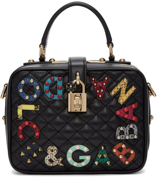 Dolce and Gabbana quilted bag black