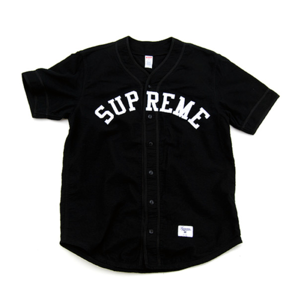 Supreme baseball jersey black size s m l xl in t shirts for Baseball jersey shirt dress