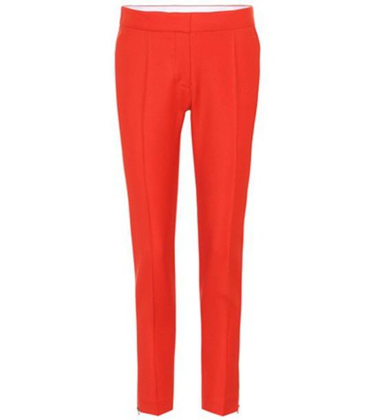Stella McCartney wool red pants