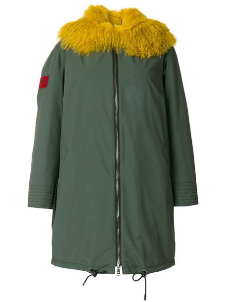 Gianfranco Ferre Vintage parka fur fox women green coat