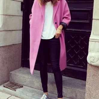 my daily style pink clothes coat winter outfits fashion outfit