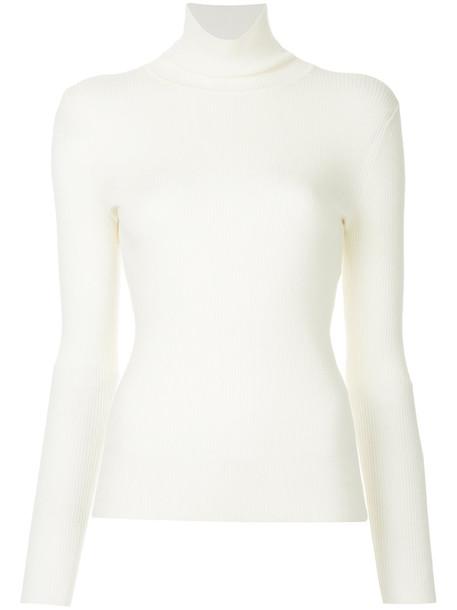 Estnation jumper women white wool sweater