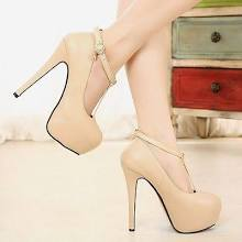 Vogue Women Lady Platform Pumps Stiletto High Heels Ankle Strap Buckle