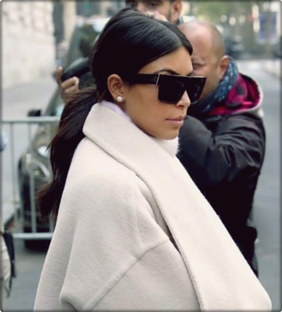 SUNGLASSES Oversized Modern Fancy Elegant Gold Black FASHION Italy Blogger Women
