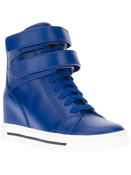 high tops sneakers high shoes wedges lace up shoes marc jacobs cool straps sporty sporty style high wedged sneakers marc by marc jacobs
